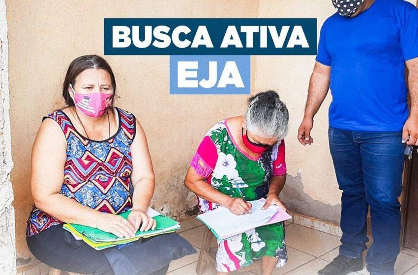 Busca ativa com turmas voltadas para a Alfabetização de Jovens e Adultos (EJA)